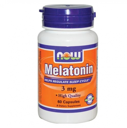 Now Foods -Melatonin 3mg -60Capsules - 나우 푸드 - 멜라토닌 3mg -캡슐