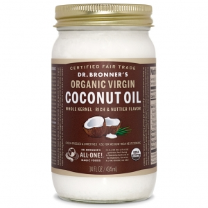 Dr. Bronner's 닥터 브로너스 Whole Kernel Organic Virgin Coconut Oil 오가닉 버진 코코넛 오일 414ml