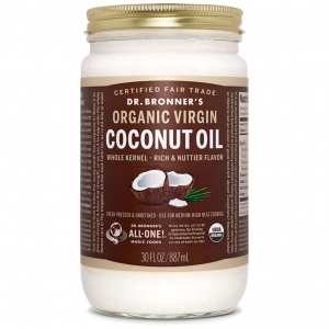 Dr. Bronner's Magic Soap, 홀 커널 오가닉 버진 코코넛 오일Whole Kernel Organic Virgin Coconut Oil 887ml