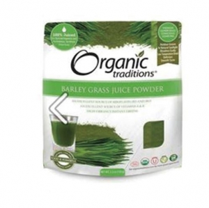 Organic Traditions - Barley Grass Juice Powder  - 올가닉 트레디션 - 보리순 주스 가루 - 150g
